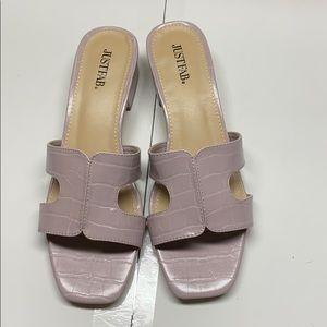 Just Fab lilac slide sandals